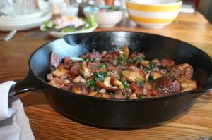 Liver and Mushroom Stir Fry