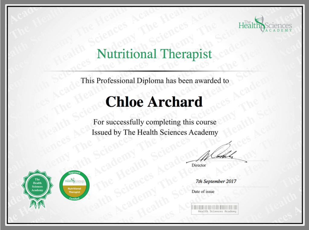 ChloeArchardNutritionalTherapist