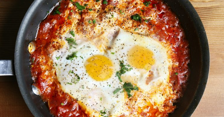 Shakshuka – Spicy  Tomatoes & Eggs