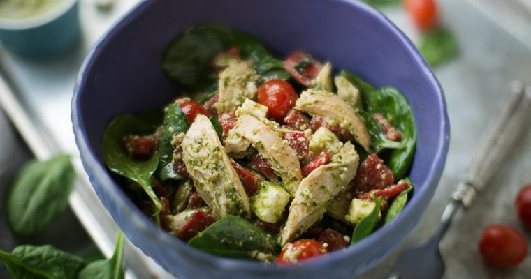 Chicken Salad With Baby Spinach