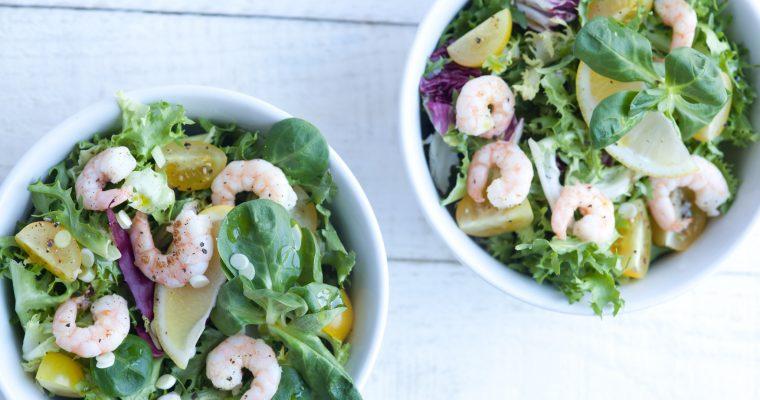 Prawn Salad with Green Mint Dressing