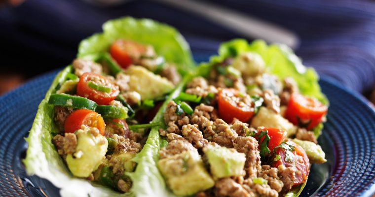 Lettuce Cups with Spicy Chicken