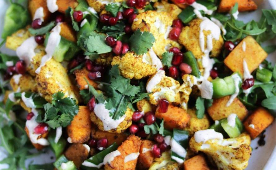 Curried Cauliflower & Squash Salad